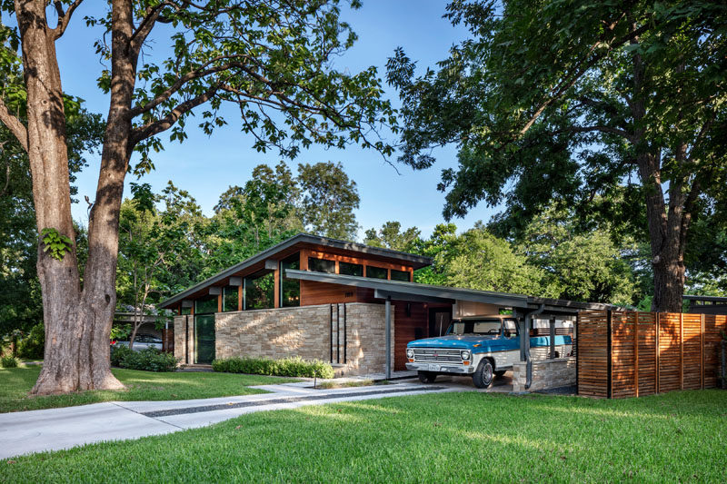 This Mid-Century Modern House In Austin, Texas Received A .