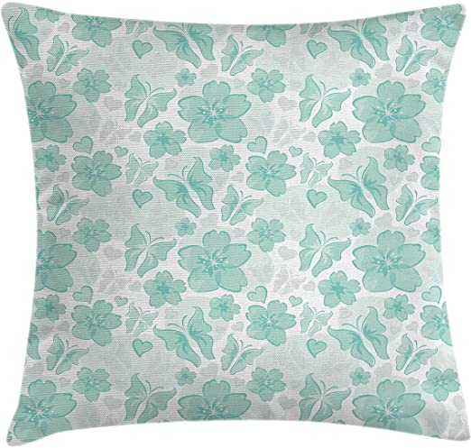 Amazon.com: Ambesonne Turquoise Throw Pillow Cushion Cover .