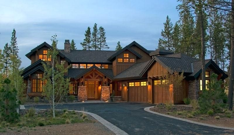 One Story Stone House Plans Rustic Mountain Home Lodge Type .
