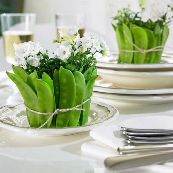 Rustic Veggies And Herbs Tablescape Ideas | Vegetable decoration .