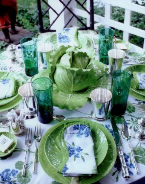 Rustic Veggies And Herbs Tablescape Ideas | Beautiful table .