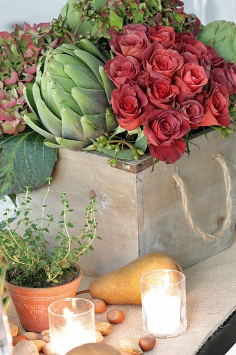 34 Rustic Veggies And Herbs Tablescape Ideas (With images .
