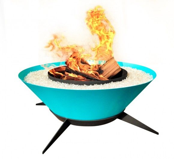 Very retro fire bowl from ModFire.com. Looks like something the .