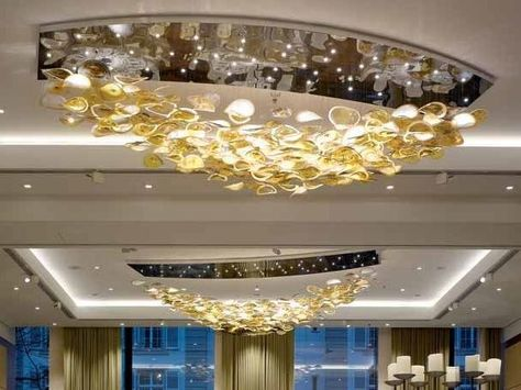 Indirect light crystal Chandelier LINEAR MIST Contemporary .