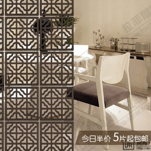 Wall hanging wood sculpture screen hanging entrance partition .