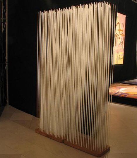 Room divider or modern art sculpture? It's difficult to tell .