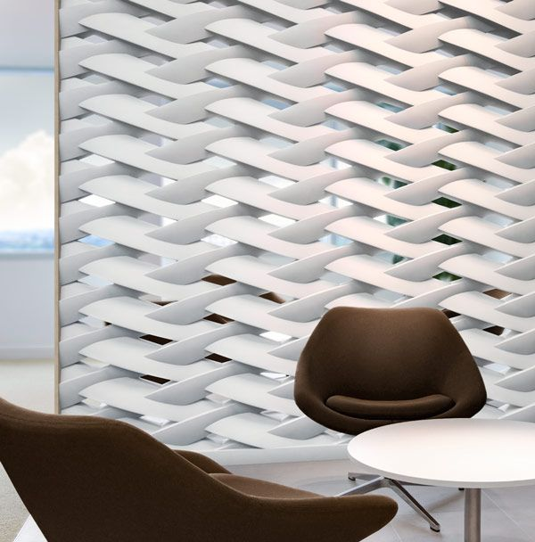 Try this for a sculptural divider wall. (With images)   Partition .