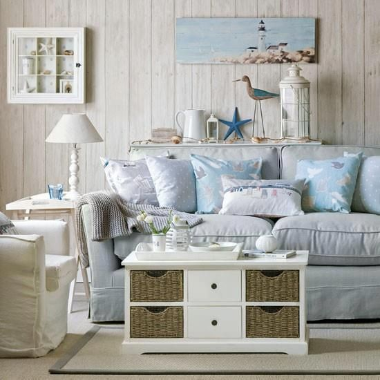 37 Sea and Beach Inspired Living Rooms   DigsDigs   Beach theme .