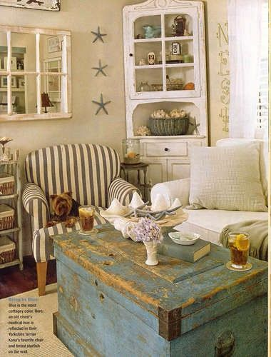 59 Sea And Beach Inspired Living Rooms   Cottage living rooms .
