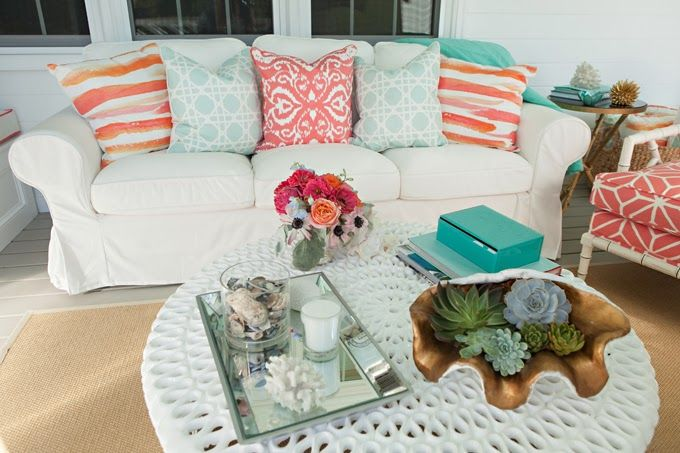 House of Turquoise | Summer porch decor, Terrace decor, House of .