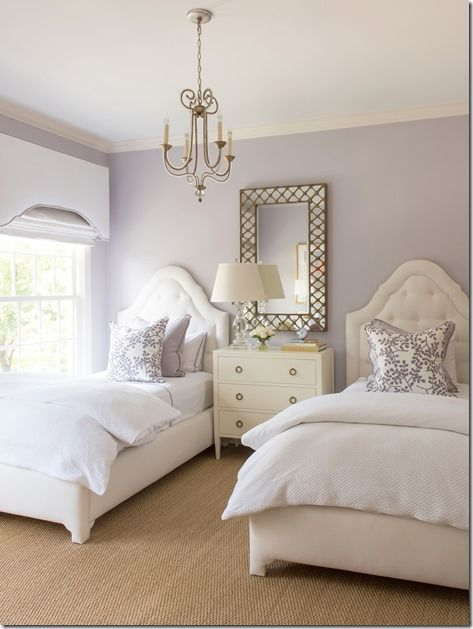 Before & After: Ashley Goforth Design | Twin girl bedrooms .