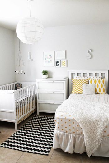 Space Savers: Nursery Sharing Done Right | Toddler and baby room .