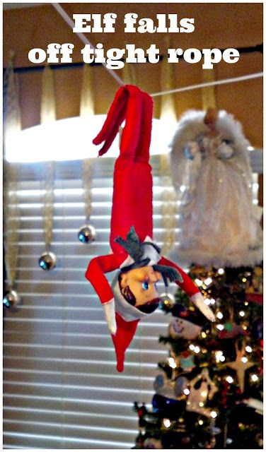 Elf on the Shelf: Tight Rope, Zip Line, or Swing | Elf on the .