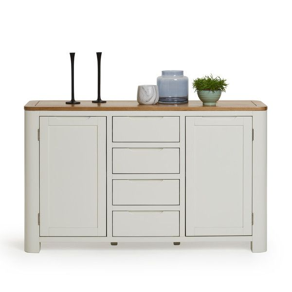 Hove Natural Oak and Painted Large Sideboard | Large sideboard .
