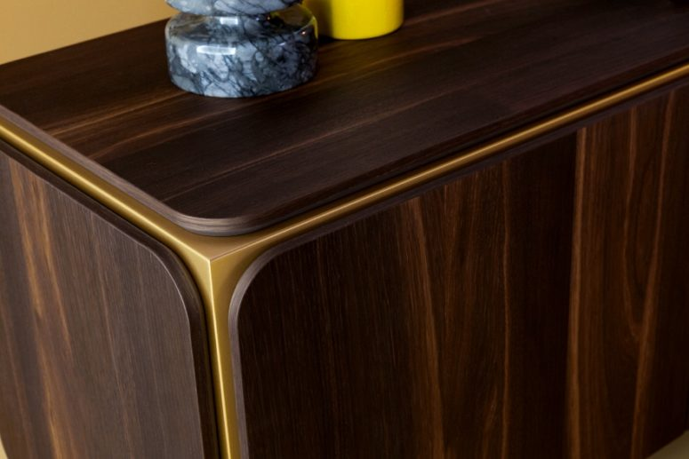 Edgy Sideboards with Rounded Corners of Bonaldo-Furniture-Credenza .
