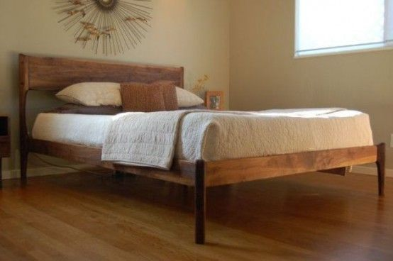 28 Simple And Elegant Mid-Century Modern Beds - DigsDigs | Mid .