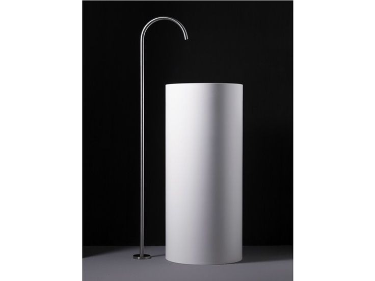 Floor standing stainless steel washbasin tap Wings Taps Collection .