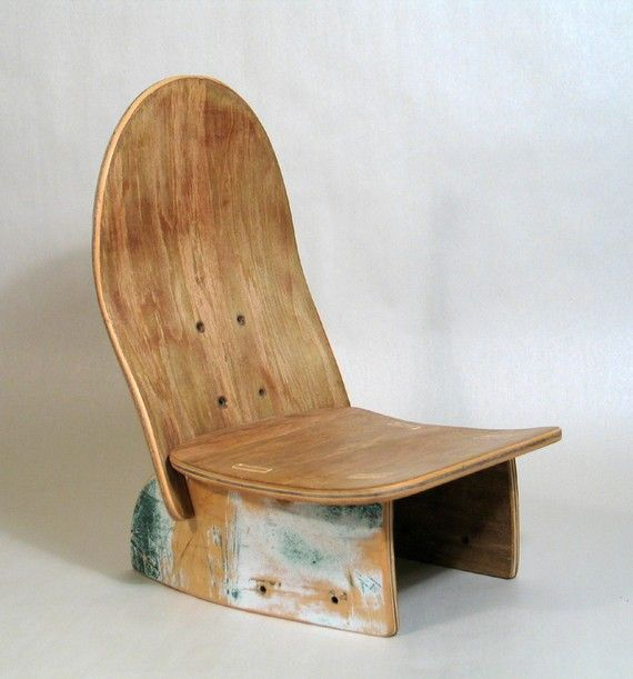 Baby Deck Chair, made from old skateboard deck - by boardgames .