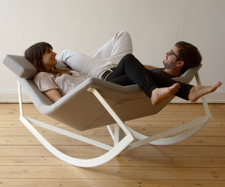 Flexible Rocking Chair With a Padded Seat - Sway by Markus Krauss .