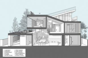 Floor-Plan-Picture Sloping Roof Design Terrace at Modern Roof .