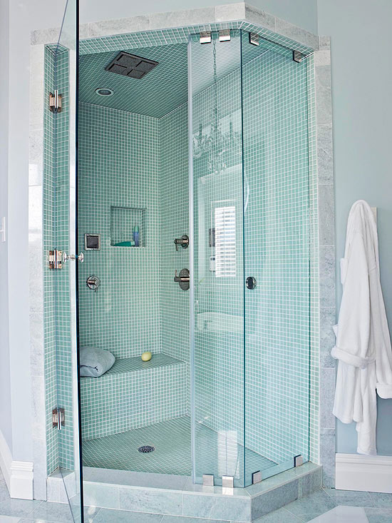 Walk-In Showers for Small Bathrooms   Better Homes & Garde
