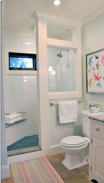Before and After Farmhouse Bathroom Remodel   Bathroom shower .