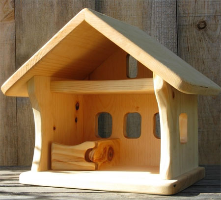 Small Wooden Barn Can Conveniently House all Your Kid's Animal .