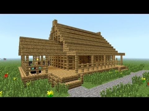 MINECRAFT: How to build little wooden house | Minecraft house .
