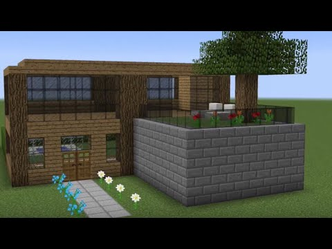Minecraft - How to build a small wooden house - YouTu