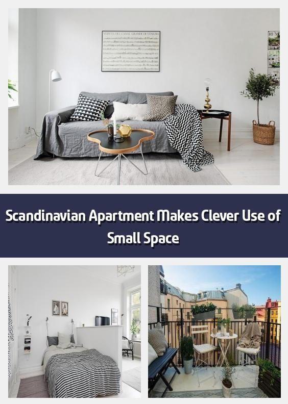 Scandinavian Apartment Makes Clever Use of Small Space - Small yet .