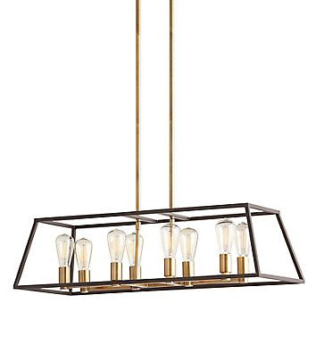 Modern to contemporary home style pendant shown with filament .