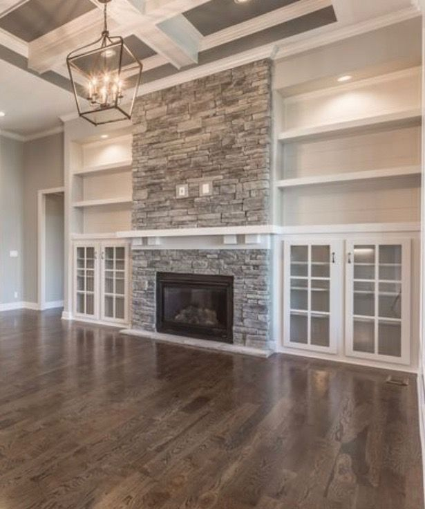 Elegant stone fireplace adds style to any room. Achieve this look .