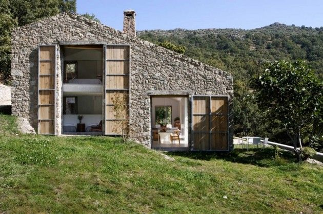 Spanish stable turned contemporary stone home | Stone houses .
