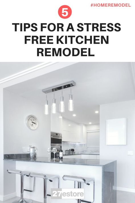 5 Tips For A Stress Free Kitchen Remodel   Kitchen remodel, Diy .