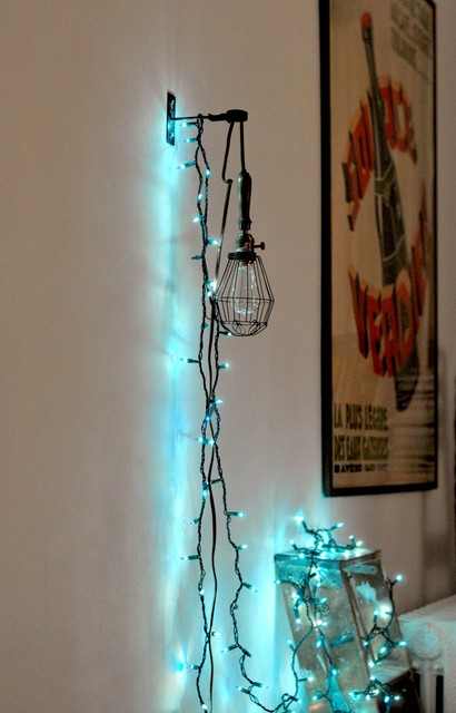 string lights - Eclectic - Home Office - New Yo