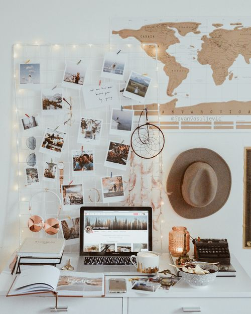 25 Ideas To Use String Lights In Home Offices - DigsDi