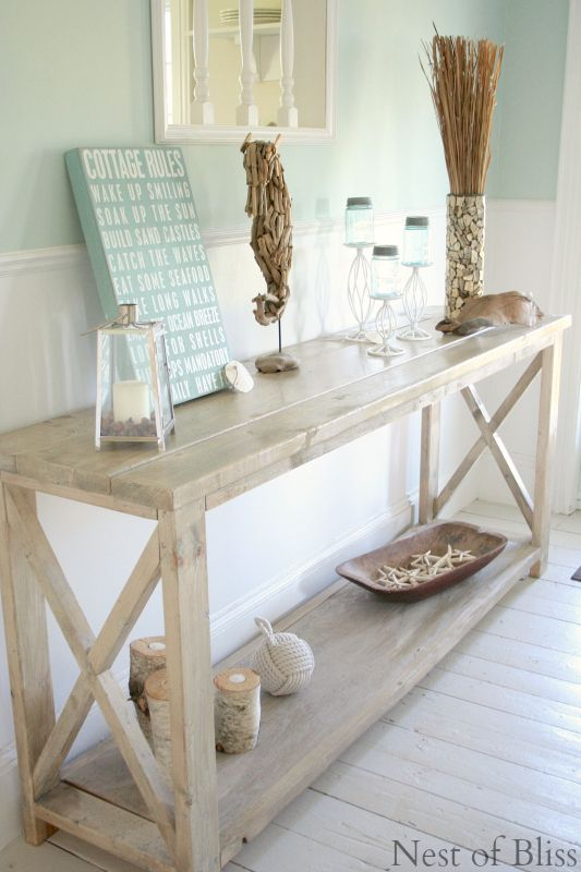 Coastal style home decor is so relaxing and can make any space .