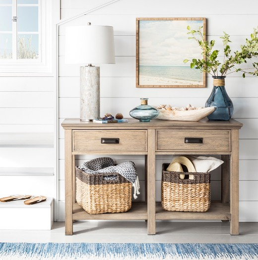 Styling a Console Table with Coastal Decor like a Pro   Shop the .