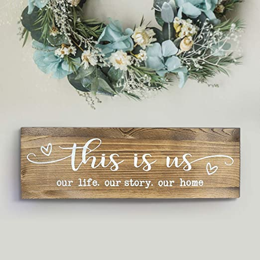 Amazon.com: CHICVITA Rustic Wall Mounted Wood Sign, This is Us .