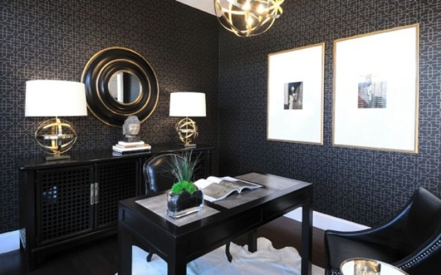 33 Stylish And Dramatic Masculine Home Office Design Ideas .
