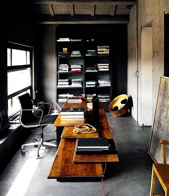 33 Stylish And Dramatic Masculine Home Office Design Ideas | Home .