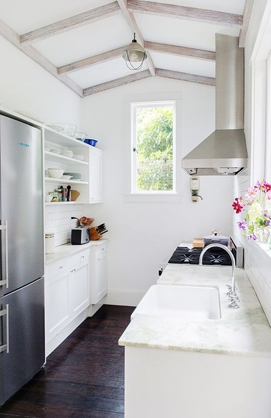 Stylish And Functional Super Narrow Kitchen Design Ideas   Small .