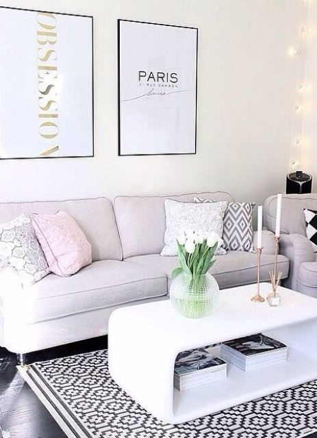 32 Stylish Geometric Décor Ideas For Your Living Room   Room .