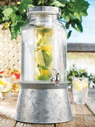 Stylish Ways to Entertain Outdoors this Summer | Drink dispenser .