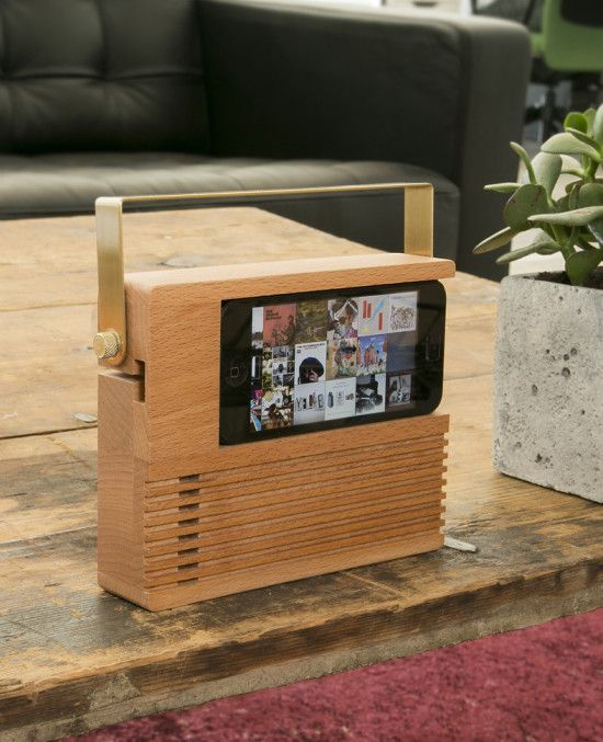 This Radio Dock lets you bring back old-school radio cool to your .