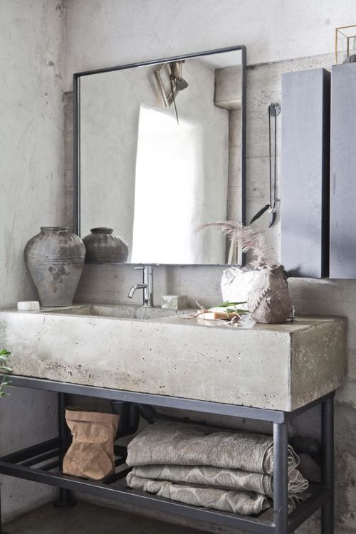 37 Stylish Ways To Use Concrete In Your Bathroom | Industrial .