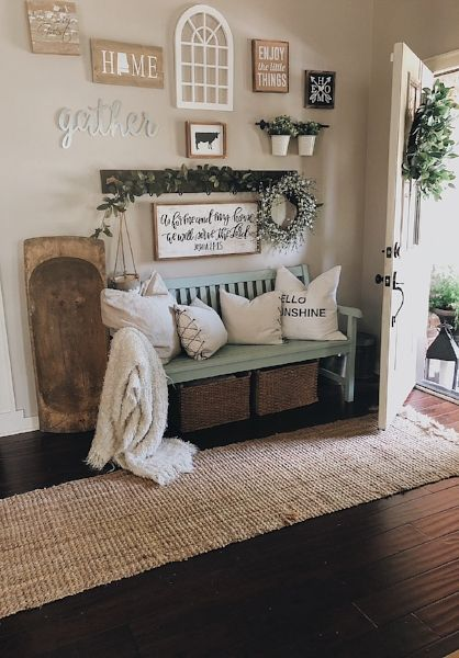 Early Summer Entryway and Foyer Tour | Country house decor, Bench .