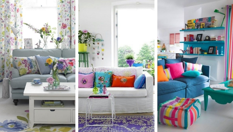 32 Colorful living room decor ideas for more summer charm at home .