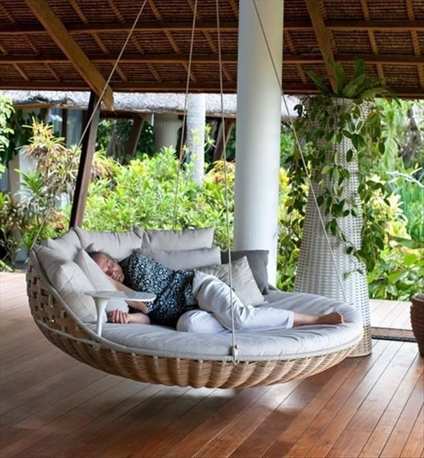 Find Hanging Chairs Memes   MEMEY.com   Outdoor porch bed, Home .