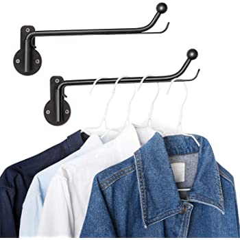 Amazon.com: Mkono Wall Mounted Clothes Hanger with Swing Arm .